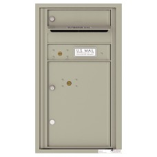 Commercial and Residential Mailboxes-Front Loading Mailbox, 4C Mailbox w/1 Tenant Compartment, 1 Parcel Locker, 30-1/4""