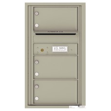 Commercial and Residential Mailboxes-Front Loading Mailbox, 4C Mailbox w/3 Oversized Tenant Compartments, 30-1/4""