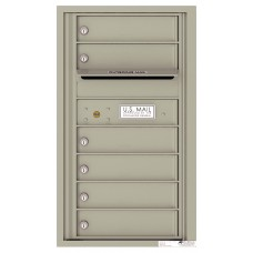 Commercial and Residential Mailboxes-Front Loading Mailbox, 4C Mailbox w/6 Tenant Compartments, 1 Parcel Locker, 30-1/4""