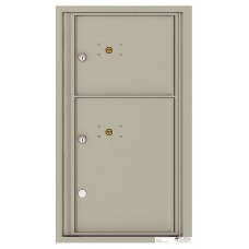 """Commercial or Residential Mailboxes - Front Loading Mailbox, 4C Mailbox w/2 Parcel Locker, 30-1/4"""""""