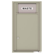 """Commercial and Residential Mailboxes-Front Loading Mailbox, Trash / Recycling Bin with (1) collection area, 30-1/4"""""""