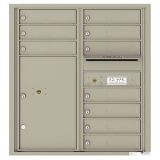 Mailbox Front Loading Commercial or Residential, 4C Mailbox w/10 tenant compartments, 1 parcel lockers, 33-3/4""