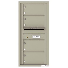 """Mail Box Front Loading Commercial or Residential, 4C Mailbox w/4 over sized tenant compartments, 37-1/4"""""""