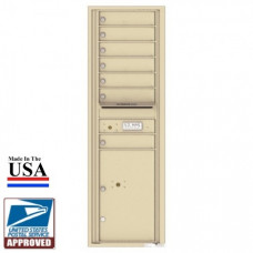 7 Tenant Doors with 1 Parcel Locker and Outgoing Mail Compartment - 4C Wall Mount 15-High Mailboxes - 4C15S-07
