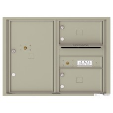 Commercial and Residential Mailboxes-Front Loading Mailbox, 4C Mailbox w/2 Oversized Tenant Compartments, 1 Parcel Locker, 23-1/4""