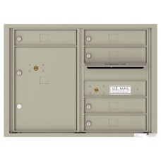 Commercial and Residential Mailboxes-Front Loading Mailbox, 4C Mailbox w/5 Tenant Compartments, 23-1/4""