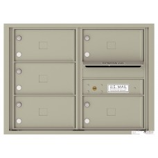 Commercial and Residential Mailboxes-Front Loading Mailbox, 4C Mailbox w/5 Oversized Tenant Compartments, 23-1/4""
