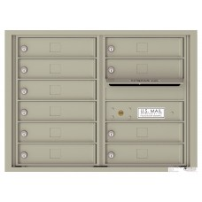 Commercial and Residential Mailboxes-Front Loading Mailbox, 4C Mailbox w/10 Tenant Compartments, 23-1/4""