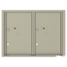Commercial and Residential Mailboxes-Front Loading Mailbox, 4C Mailbox w/2 Parcel Locker, 23-1/4""