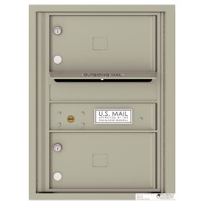 """Commercial and Residential Mailboxes-Front Loading Mailbox, 4C Mailbox w/2 Oversized Tenant Compartments, 23-1/4"""""""