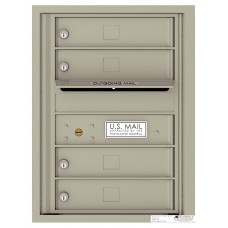 Commercial and Residential Mailboxes-Front Loading Mailbox, 4C Mailbox w/4 Tenant Compartments, 23-1/4""