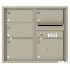 Commercial and Residential Mailboxes-Front Loading Mailbox, 4C Mailbox w/5 Oversized Tenant Compartments, 26-3/4""