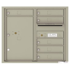 Commercial and Residential Mailboxes-Front Loading Mailbox, 4C Mailbox w/6 Tenant Compartments, 1 Parcel Locker, 26-3/4""