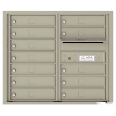 Commercial and Residential Mailboxes-Front Loading Mailbox, 4C Mailbox w/12 Tenant Compartments, 26-3/4""