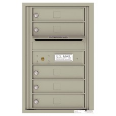 Commercial and Residential Mailboxes-Front Loading Mailbox, 4C Mailbox w/5 Tenant Compartments , 26-3/4""