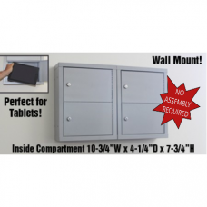 "Mail Room and Office Security 5""D - 4 Door, Locking Tablet Computer Cabinet"