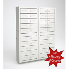 "Mail Room and Office Security Cabinets 9""D - 40 Door, Cell Phone Cabinet"