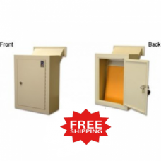 Through the Wall Steel Mount Drop Box - FREE SHIPPING!