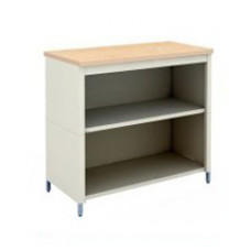 "Mail Room Adjustable Height Corner Table 30""W x 30""D Extra Deep Open Storage Table with 2 Lower Shelves"