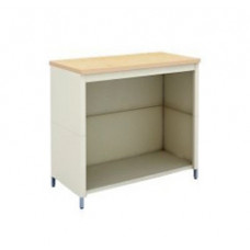 "Adjustable Height Mail Room Corner Table 36""W x 30""D Extra Deep Open Storage Table with Lower Shelf"