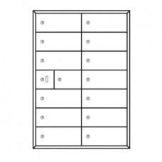 Commercial and Private Use Mailboxes 14 Door Front Loading Mailbox Cluster with Master Door - Complete!!