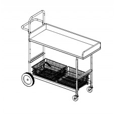 "Long Mobile Writing Carts with 4"" Capture Rails"