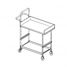 "Medium Mobile Writing Carts With 36"" Writing Surface and 4"" Rails"