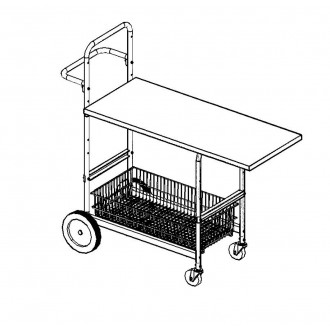 """Medium Mobile Writing Carts With 48"""" Writing Surface"""