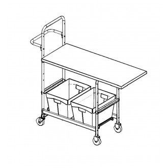 "Medium Mobile Writing Carts With 48"" Writing Surface"