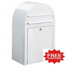 """Close-Out Special"" White Contemporary Mailbox (Only One Left!) - FREE SHIPPING!"