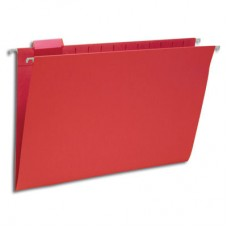 Hanging File Folders Red, Legal Size Kraft Folders - Carton of 25