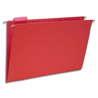 Hanging File Folders Red, Legal Size Kraft Folders - Carton of 25