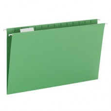 Hanging File Folders Green, Legal Size Kraft Folders - Carton of 25