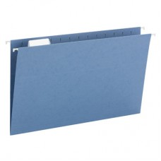 Hanging File Folders Blue, Legal Size Kraft Folders - Carton of 25