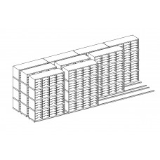 High Density Sorters and Storage 576 - Adjustable Pockets