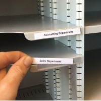Shelf Identification Economy, Adhesive Backed, Plastic ID Shelf Labels with Cardboard Insert (Pkg 25)