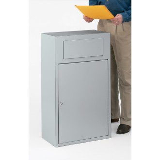 Slim Line Document Mail Drop Box - Grey