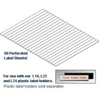 "Label Inserts 1,000 Label Tabs and Instruction Sheet for 1/2""H Labels"