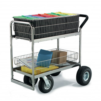Mail Room Supplies Medium Wire Basket Mail Delivery Cart With Caster Options