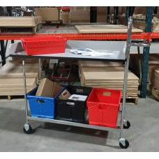 "Long Mobile Writing Carts with 4"" Rails"