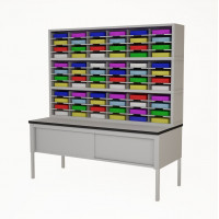 "72""W, Triple Sorter with Lower Table Complete! 72 Pockets, your choice of Letter or Legal Depths"