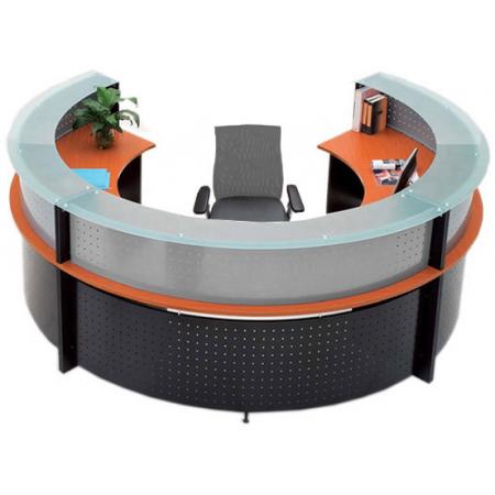 Semi Circle Gl Top Reception Desk Free Freight