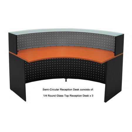 Semi Circle Gl Top Reception Desk Free Freight