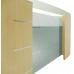 12' Maple Veneer Reception Desk with Glass Top FREE FREIGHT