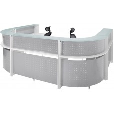 White U Shape 2 Person Reception Desk - FREE FREIGHT