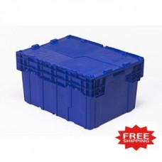 Overstock Special!! Blue Courier Tote With Built-In Lid - Only 2 Left, Free Ground Shipping!!!