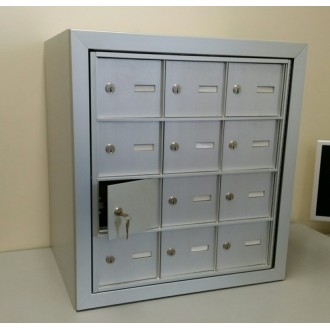 Close -Out!! 12 Door (11 Useable Doors) Front Loading Mailbox in Wood Case, Complete! FREE SHIPPING!