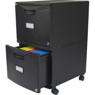 """File Cabinet 18"""" Mobile black Plastic File Cabinet"""
