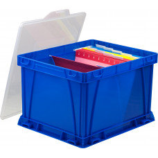 Mail Boxes Stack-able Plastic File Box with Snap on Lid.
