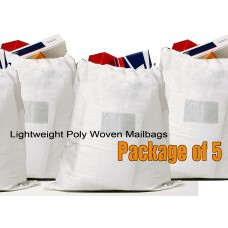 "Lightweight Poly Woven Bag 26""H X 22""W - Package of 5"